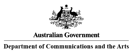 Australian Government Department of Communication and the arts